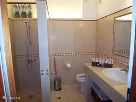 Praktische badkamer met grote inloopdouche