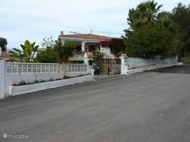 Vooraanzicht Casa El Nogal