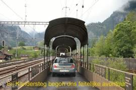 De autotrein Kandersteg-Goppenstein brengt u snel naar door de Lötschbergtunnel naar het Rhonedal.