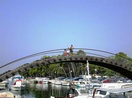 The bridge at the market Trogir