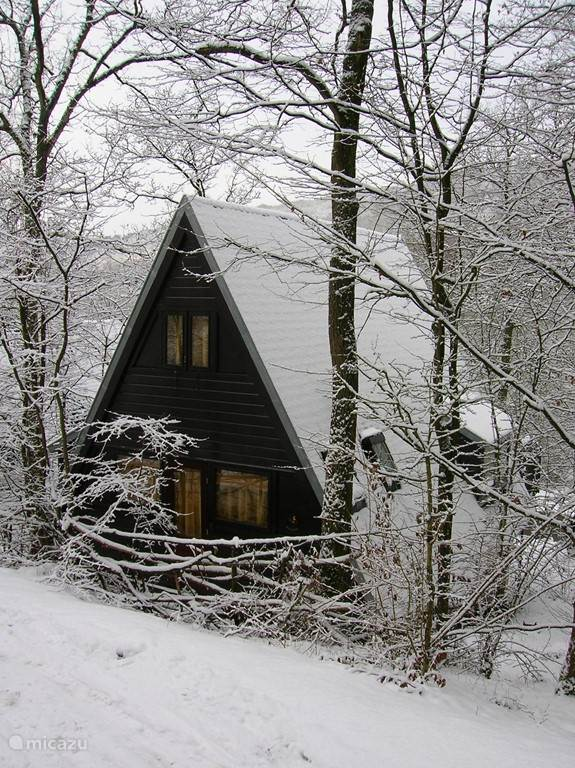 Back vd bungalow in winter. Really a fairy tale, here can not compete with Efteling ..... (just kidding, we live in Kaatsheuvel)