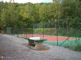 Table tennis (free) and tennis (fee) on the park. Table tennis bats and balls can be rented at the reception.