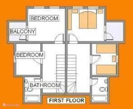 Plattegrond (1e verdieping)