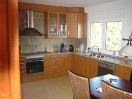 Grote woonkeuken met alle denkbare apparatuur