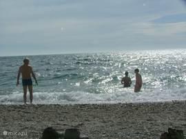 Authentiek, niet toeristisch strand op 25 minuten. Er zijn meerdere stranden en romantische baaien in de buurt.