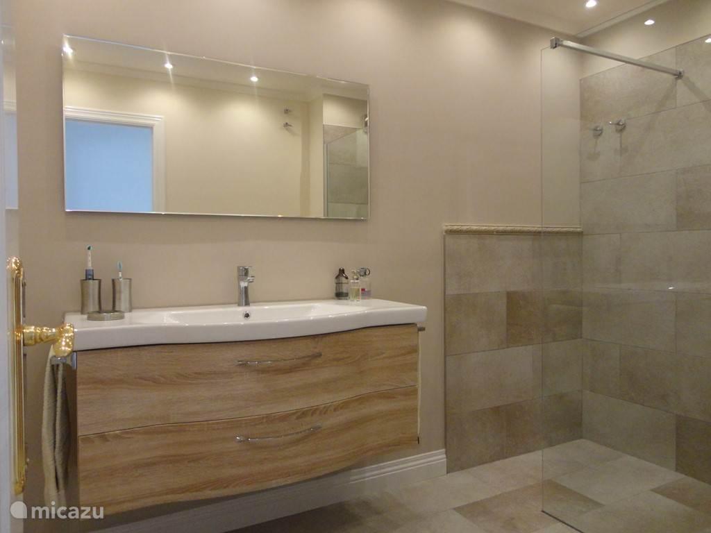 Luxe badkamer met grote inloopdouche