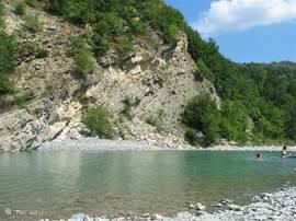 Zwemplek in Ceno (5 min.rijden)