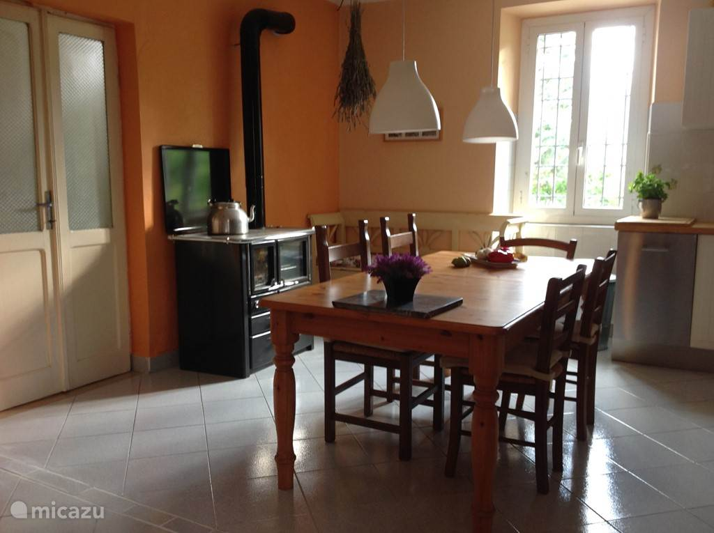 Kitchen - left. The photo was taken from the sitting area (living room)