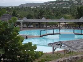 Zwembad op Mont Vernon.  U kunt gebruik maken van het grote zwembad op Mont Vernon.