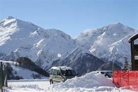 boven in Guzet-neige; 15 minuten rijden met de auto en dan ben je in dit skigebied