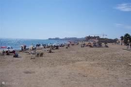 strand van La Mata richting Guardamar