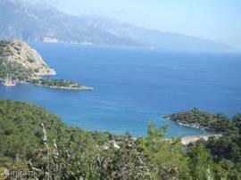 Baai van Gemiler, in de buurt van Kayaköy
