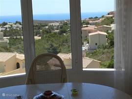 Uitzicht vanuit de eetkamer.