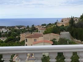 Uitzicht, vanaf bovenste terras.