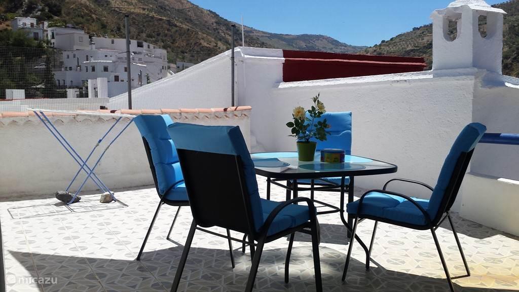 Vakantiehuis Spanje, Andalusië, Torvizcon vakantiehuis Casa Azul
