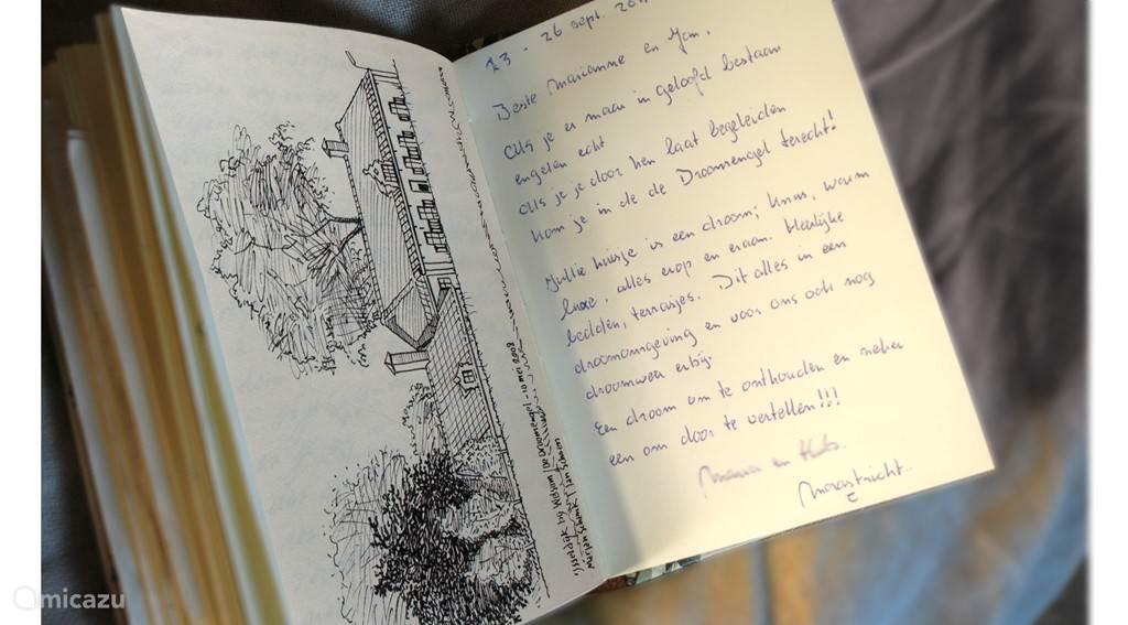 Het gastenboek staat vol lieve reacties en mooie herinneringen van onze gasten.