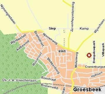 Route naar Groesbeek