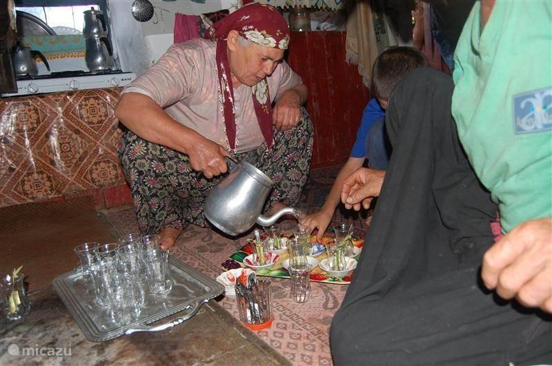 Bezoek aan een traditionele familie