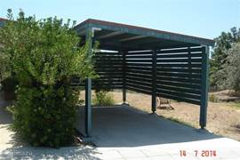 A carport is a must in sunny Cyprus, otherwise you step into an oven every time ..