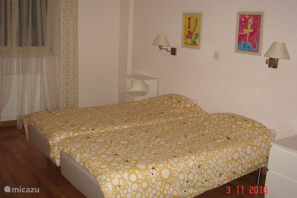 This room is very spacious too, with two single beds.