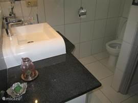De badkamer en het toilet zijn recentelijk geheel vernieuwd. In de inpandige garage is een tweede toilet aanwezig.
