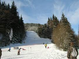 Een prachtige ski afdaling in de omgeving