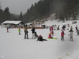Skigebied bij ons huis.