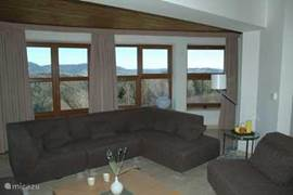 sitting area with views over the valley