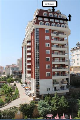 Dit is het A blok van het Dream Homes resort, op de foto wordt het penthouse aangegeven.