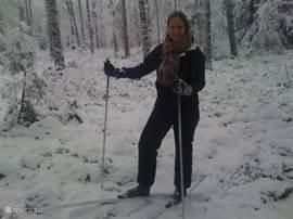 Ook in de winter is het heerlijk op de Veluwe, zelfs langlaufen behoort tot de mogelijkheden.