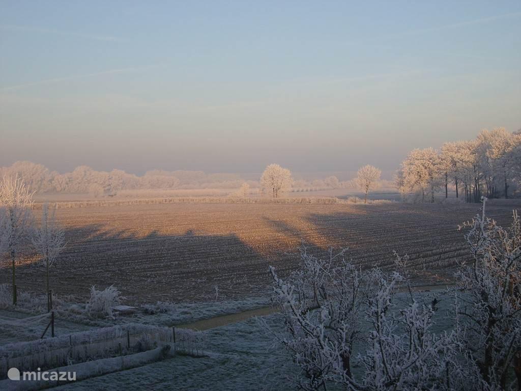 Winter uitzicht Koetshuis