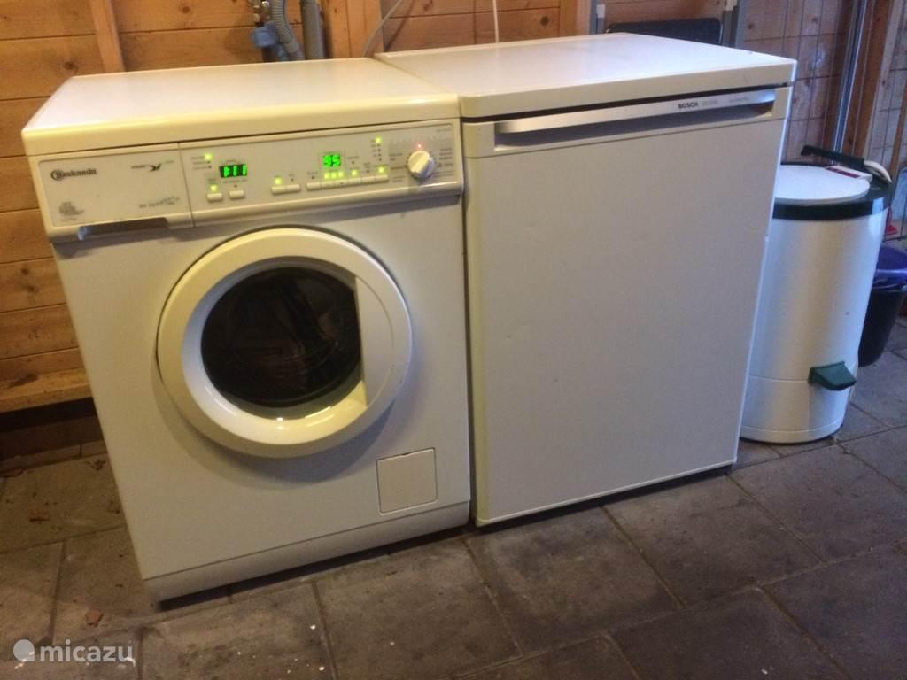 's zomers een wasmachine beschikbaar