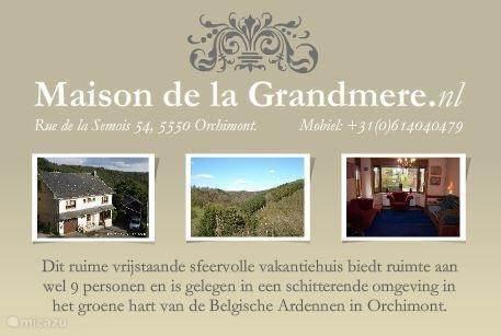 Website Maison de la Grandmere