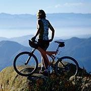 Cycling and mountain biking in the summer