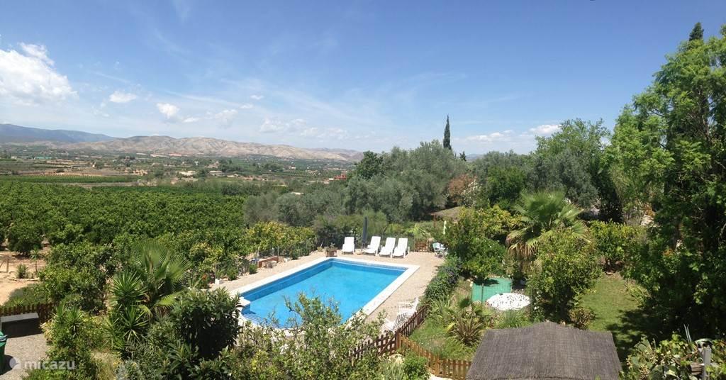 Het privézwembad van Casa Amigo