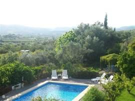 Het uitzicht vanaf het terras van de vakantie accommodatie