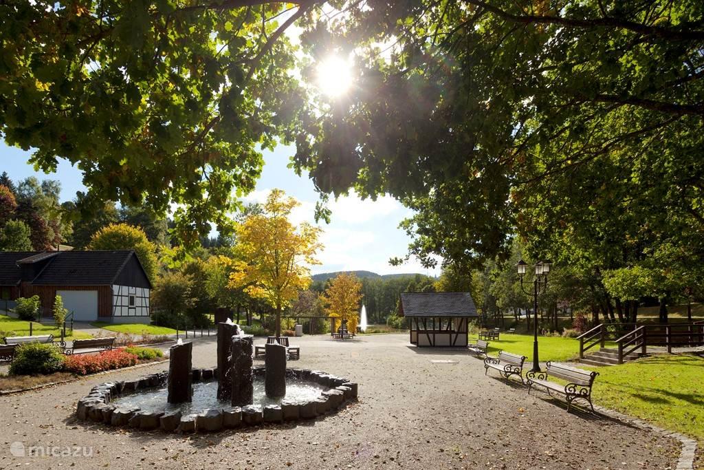 Nabij het huis is een gezellig park, alwaar men kan genieten van de rust en de prachtige natuur.