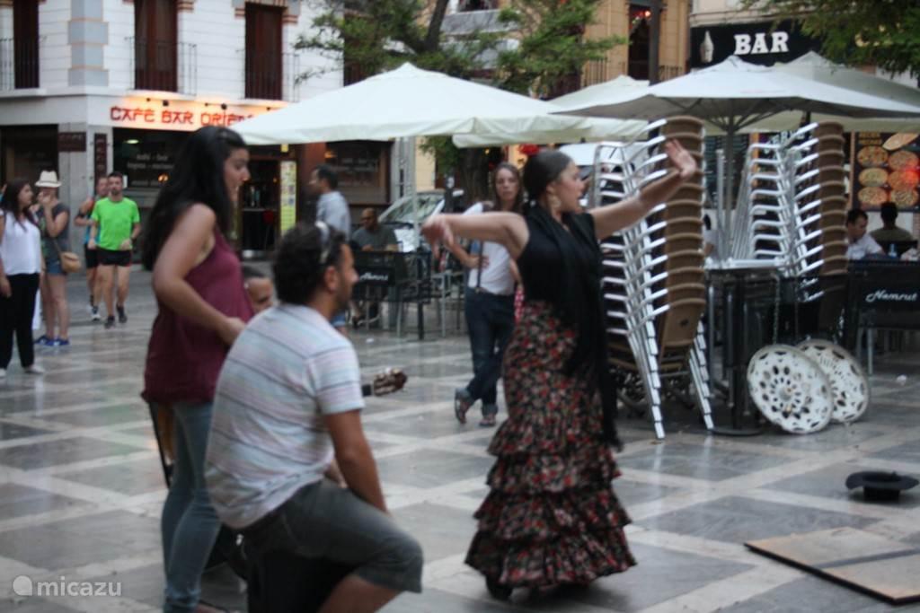 flamenco in de straten