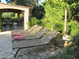 Soak up the sun on one of the luxurious beds