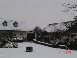 sneeuw de dal
