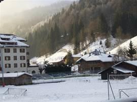 winter: uitzicht balkon zuid
