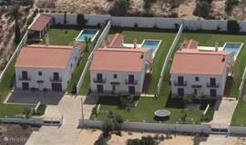 Luchtfoto van de locatie