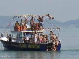 duiken van boot