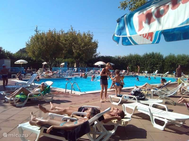 Zwembad met kinderbad: open van juni tot september. Bij de rubriek Video's kan u hiervan een filmpje bekijken.