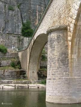 Pillar of a bridge at Balazuc.