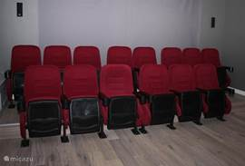 The real cinema with 14 seats. Enjoy the movie and then a fresh beer in the bar!