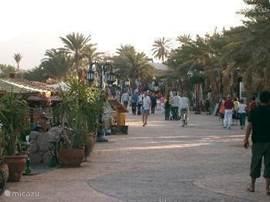 De boulevard in Dahab