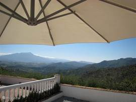Vanaf het terras een adembenemend uitzicht over de grote vallei.