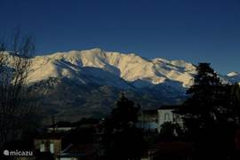 "Winter snow on the ""Lefka ori"" the White Mountains."