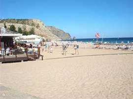 The sea at Luz beach